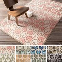 Hand-woven Brett Reversible Wool Area Rug (3'3 x 5'3)