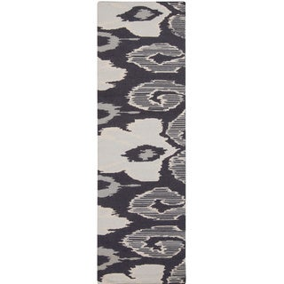 Hand-woven Ampthill Reversible Wool Rug (2'6 x 8')