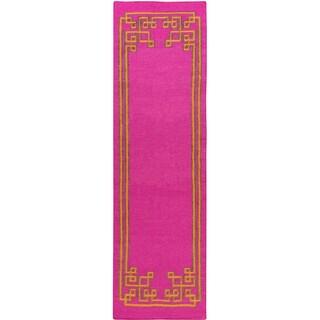 Hand-woven Omar Reversible Wool Area Rug (2'6 x 8')