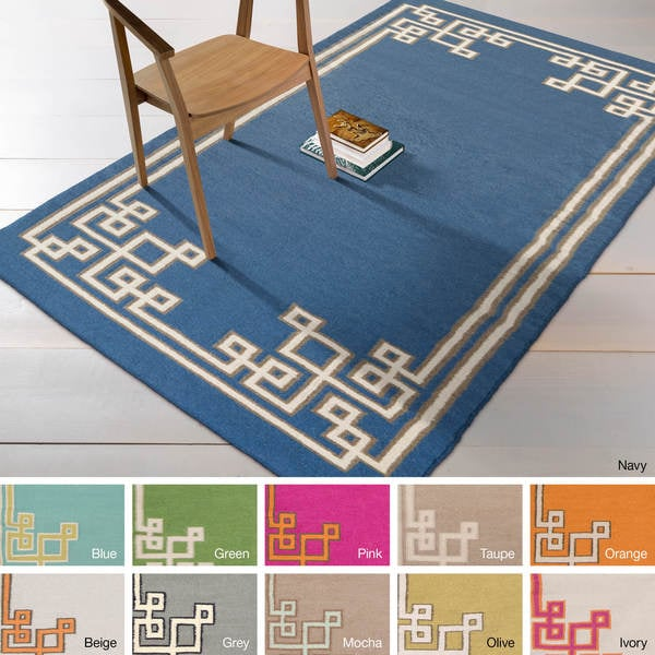Hand-woven Omar Reversible Wool Area Rug - 8' x 11'
