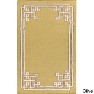Hand-woven Omar Reversible Wool Area Rug - 8' x 11' (Option: Olive)