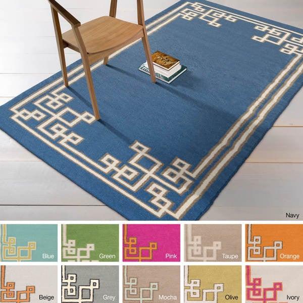 Hand-woven Omar Reversible Wool Rug (8' x 11')