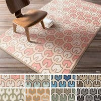 Hand-woven Brett Reversible Wool Area Rug (5' x 8')