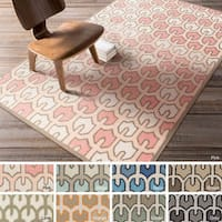 Hand-woven Brett Reversible Wool Area Rug - 5' x 8'