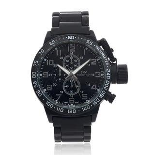 Territory Men's Tachymeter Metal Link Bracelet Wrist Watch (Option: Black)