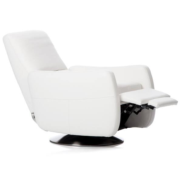 Strange Shop Natuzzi Swivel Press Back Off White Italian Leather Pabps2019 Chair Design Images Pabps2019Com