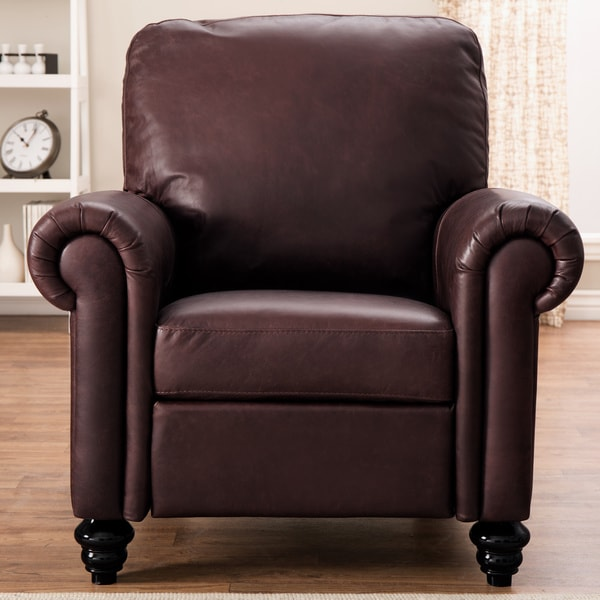 Shop Natuzzi Rome Brown Italian Leather Recliner Free