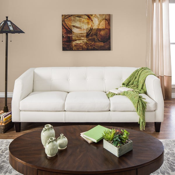 10 Best Collection Of Off White Leather Sofas: Natuzzi Vittoria Off-white Italian Leather Sofa