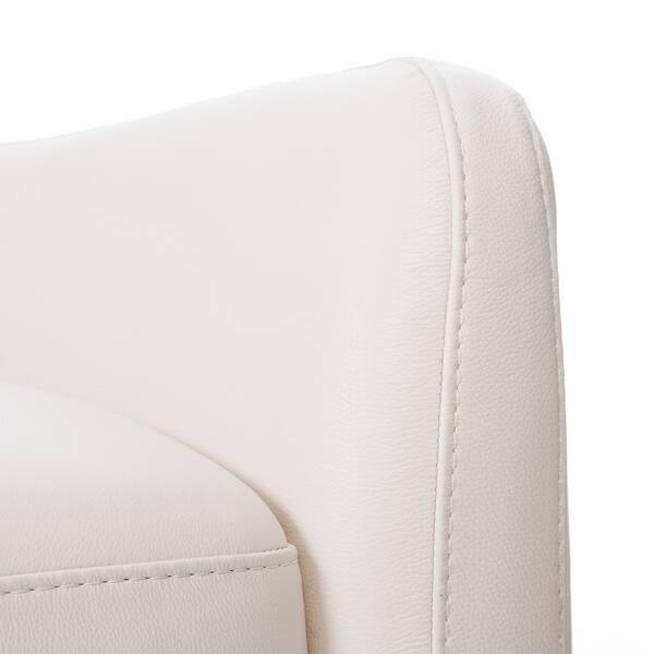 Stupendous Shop Natuzzi Dallas Off White Italian Leather Recliner Short Links Chair Design For Home Short Linksinfo