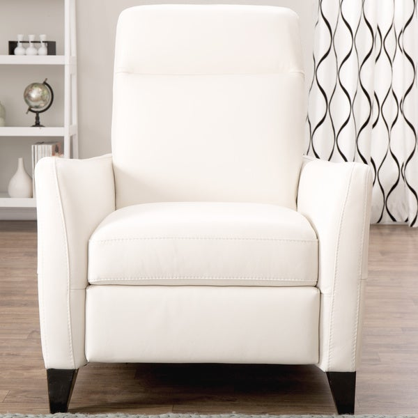Natuzzi Dallas Off white Italian Leather Recliner Free