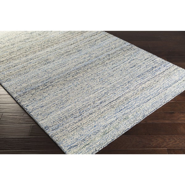 Hand-Hooked Valerie Cotton and Wool Abstract Area Rug - 9' x 13'