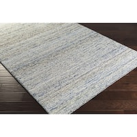 Hand-Hooked Valerie Cotton and Wool Abstract Area Rug