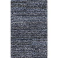 Hand-hooked Valerie Abstract Cotton and Wool Area Rug (8' x 11')