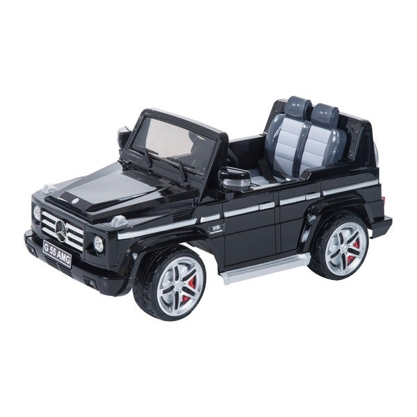 Mercedes-Benz G55 12V Kids Electric Battery Toy Ride-On Black SUV Car with Remote Control