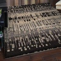 Carolina Weavers Grand Comfort Collection Misty Black Shag Area Rug - 5'3 x 7'6