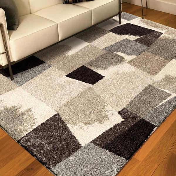 carolina weavers grand comfort collection barricade gray shag area rug - Shag Area Rug