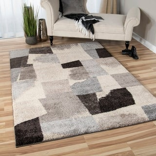 Carolina Weavers Grand Comfort Collection Barricade Gray Area Rug