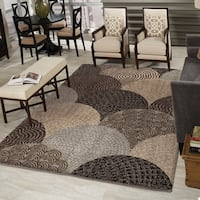 Austral Beige/ Brown Shag Rug by Carolina Weavers