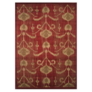 Inspire Red Area Rug (2' x 4')