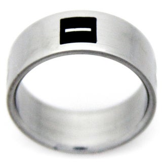 Stainless Steel Positive and Negative Sign Ring