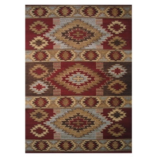 Inspire Red Area Rug - 2' x 4'