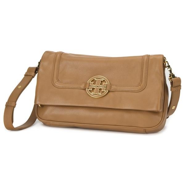 548874cf3594df Shop Tory Burch Amanda Foldover Royal Tan Messenger Bag - Free ...