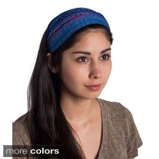 Handmade Expandable Boho Bandanna Style Headband (Guatemala)