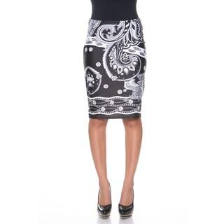 Link to White Mark Women's 'Pretty & Proper' Bandana Print Pencil Skirt Similar Items in Skirts