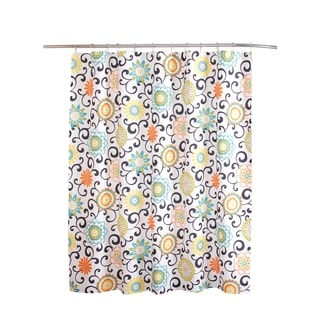 Shop Waverly Pom Pom Shower Curtain Free Shipping On