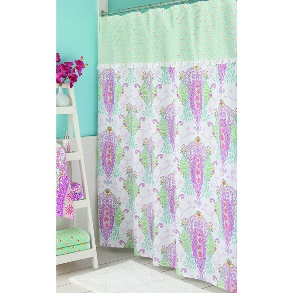 Purple And Teal Shower Curtain. Dena Home Peacock Shower Curtain  Free Shipping On Orders Over