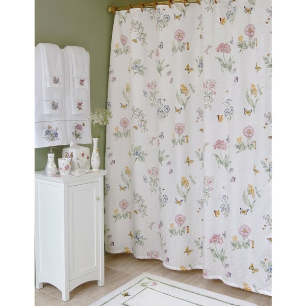 Lenox Butterfly Meadow Shower Curtain - Free Shipping On Orders ...