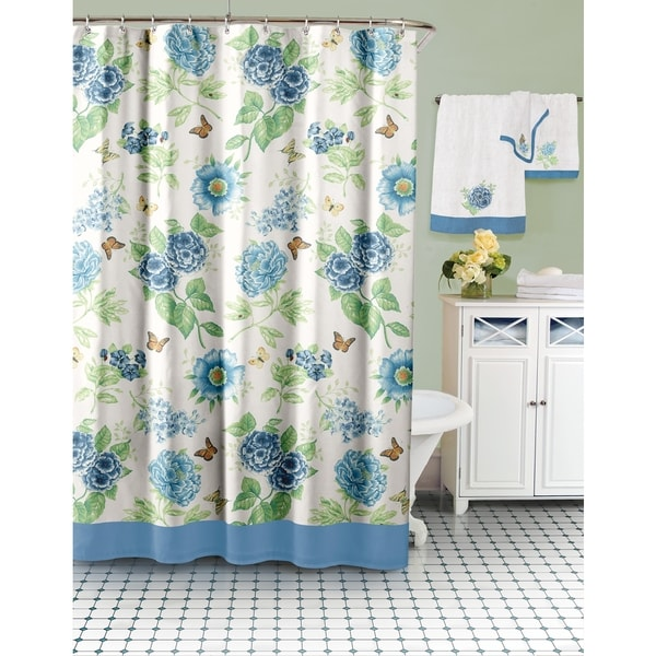 Lenox Blue Floral Shower Curtain Free Shipping Today 16802407