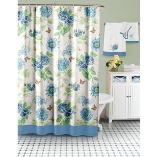 Lenox Blue Floral Shower Curtain