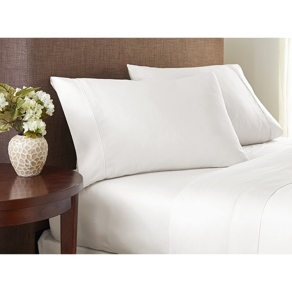 600 Thread Count Cotton Sheet Set Fade Resistance Wrinkle Free by Color Sense