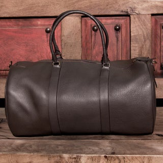 Handmade Leather Journeys In Brown Travel Bag (Mexico)