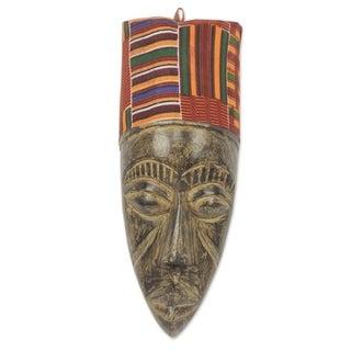Handmade Sese Wood 'Frafra Identity' African Mask (Ghana) - multi