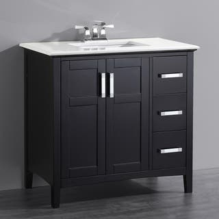 WYNDENHALL Salem Black 2-door 36-inch Bath Vanity Set with White Quartz Marble Top|https://ak1.ostkcdn.com/images/products/9617138/P16802766.jpg?impolicy=medium