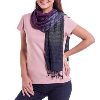 Handmade Silk 'Cool Evolution' Scarf (Thailand)