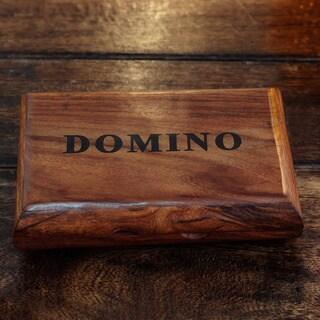 Handcrafted Sheesham Wood Brass 'Match' Domino Set (India)