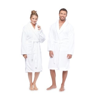 Link to Authentic Hotel and Spa Unisex Microfiber White Bath Robe Similar Items in Bathrobes