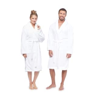 Authentic Hotel and Spa Unisex Microfiber White Bath Robe|https://ak1.ostkcdn.com/images/products/9617169/P16802447.jpg?impolicy=medium