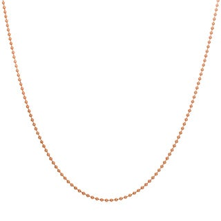 Sterling Essentials Rose Goldplated Silver 1.5mm Bead Chain