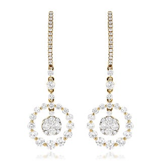 Luxurman 14k Gold 2 2/5ct TDW Diamond Earrings (G-H, VS1-VS2)