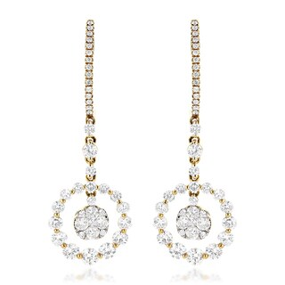 Luxurman 14k Gold 2 2/5ct TDW Diamond Earrings (3 options available)