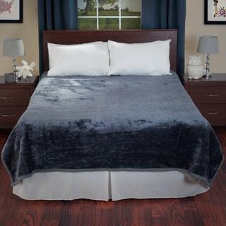 Lavish Home Soft Faux Mink Queen Size Blanket
