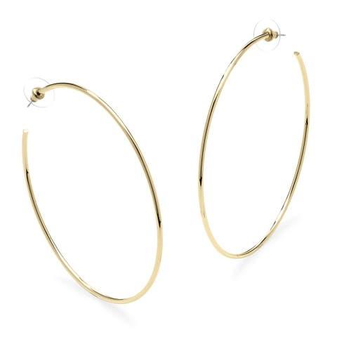 Yellow Gold-Plated Hoop Earrings (80mm)