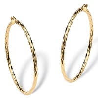 Twisted Hoop Earrings in 10k Gold Tailored