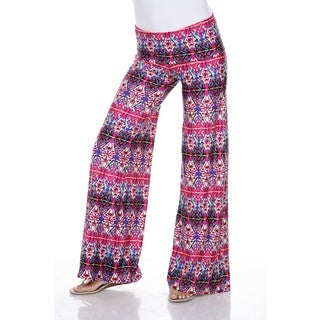 White Mark Women's Kaleidoscope Craze Palazzo Pants