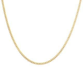 Sterling Essentials Yellow Goldplated Sterling Silver Curb Chain (2 mm)