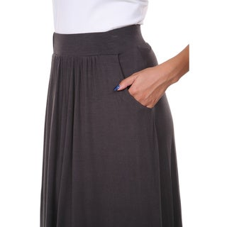 White Mark Women's Rayon Maxi Skirt